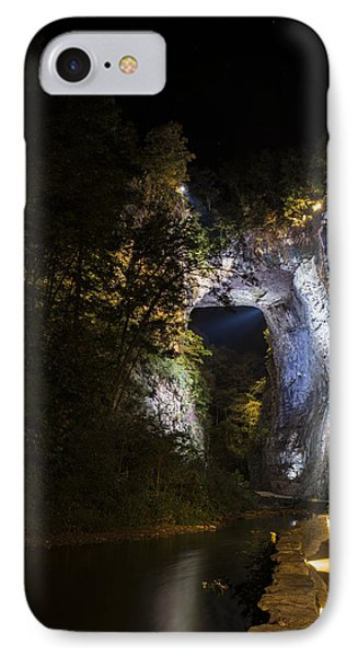 The Natural Bridge At Night  IPhone Case by Amber Kresge