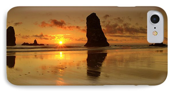 The Needles At Haystack - Cannon Beach Sunset  Phone Case by Brian Harig