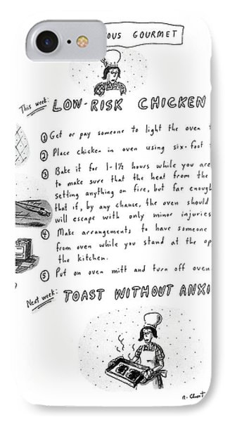 The Nervous Gourmet: Low-risk Chicken IPhone Case by Roz Chast