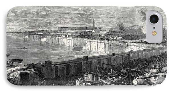 The New Docks And Repairing Basin At Chatham 1871 IPhone Case by English School