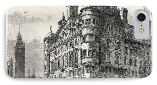 The New Police Offices On The Victoria Embankment IPhone Case by English School