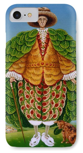 The New Vestments Ivor Cutler As Character In Edward Lear Poem, 1994 Oils And Tempera On Panel IPhone 7 Case by Frances Broomfield