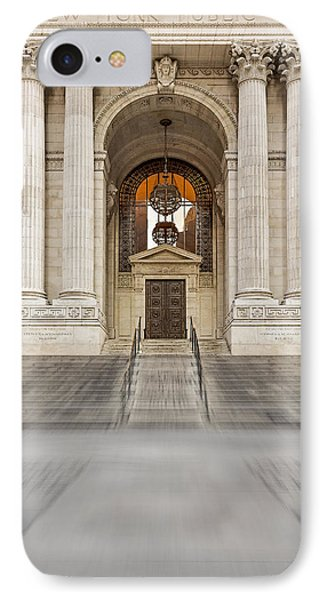 The New York Public Library IPhone Case by Susan Candelario