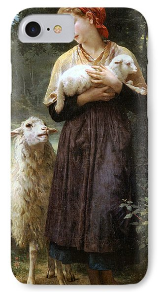 Sheep iPhone 7 Case - The Newborn Lamb by William Bouguereau