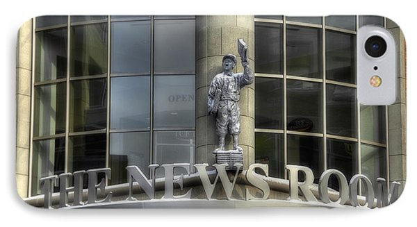 IPhone Case featuring the photograph The News Room by Trey Foerster