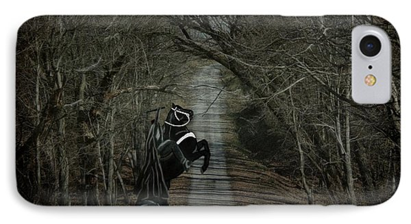 IPhone Case featuring the digital art The Nightmare by Davandra Cribbie