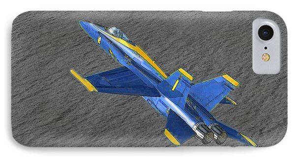 The No 2 Hornet F-18 IPhone Case by Marcello Cicchini