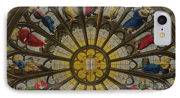 Westminster Abbey iPhone 7 Case - The North Window by William Johnstone White
