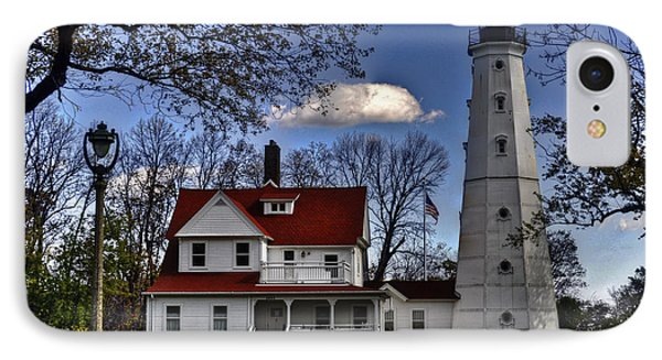 IPhone Case featuring the photograph The Northpoint Lighthouse by Deborah Klubertanz