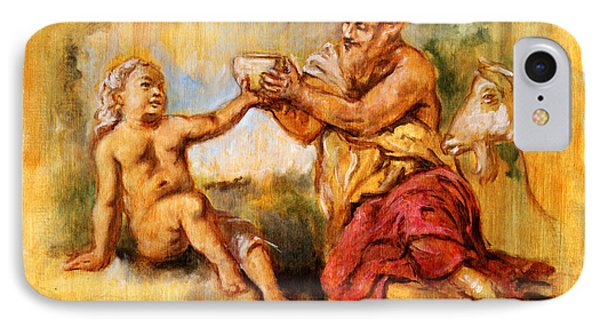 The Nurture Of Zeus Phone Case by Dan Hammer