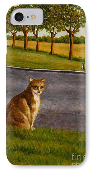 IPhone Case featuring the painting The Obscure Communication Between Cats by Jingfen Hwu