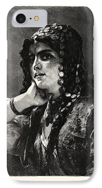 The Odalisque. An Odalisque Was A Female Slave Or Concubine IPhone Case by German School