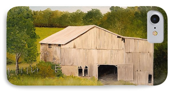 IPhone Case featuring the painting The Old Barn by Alan Lakin