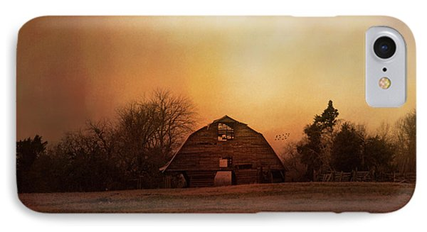The Old Barn On A Fall Evening IPhone Case