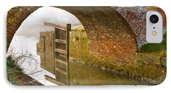 IPhone Case featuring the photograph The Old Bridge And Lock Gates by Trevor Chriss
