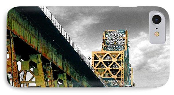 IPhone Case featuring the digital art The Old Bridge Hwy 190 Mississippi River Bridge Baton Rouge by Lizi Beard-Ward