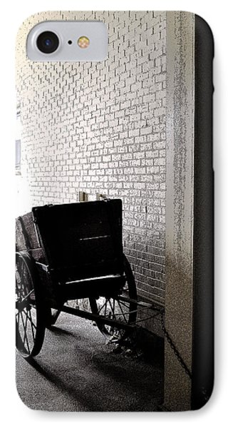 IPhone Case featuring the photograph The Old Cart From The Series View Of An Old Railroad by Verana Stark