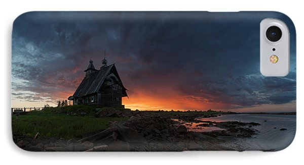 The Old Church On The Coast Of White Sea IPhone Case