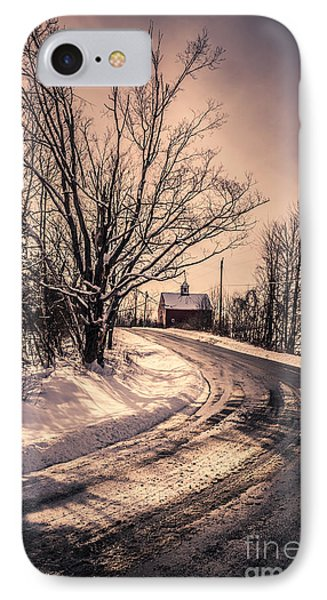 The Old Farm Down The Road IPhone Case by Edward Fielding