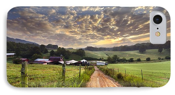 The Old Farm Lane IPhone Case by Debra and Dave Vanderlaan