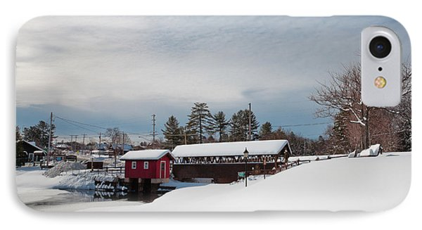The Old Forge Covered Bridge IPhone Case by David Patterson