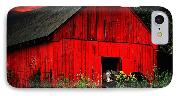 The Old Frederick Barn IPhone Case by Julie Dant