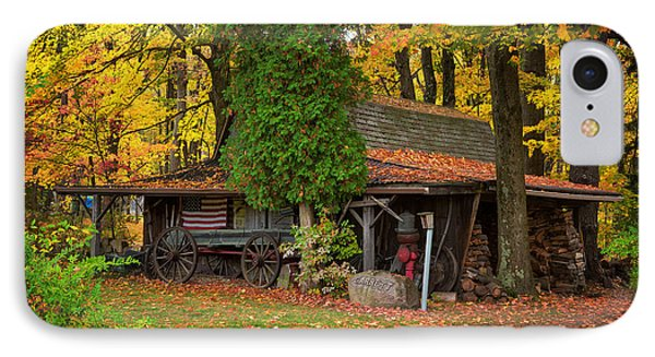 The Old Garage  IPhone Case by Emmanuel Panagiotakis
