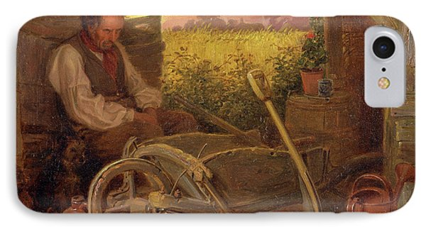 The Old Gardener Signed And Dated, Lower Right Br 1863 IPhone Case by Litz Collection