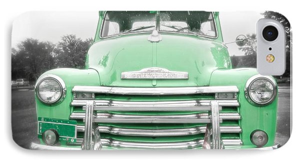 The Old Green Chevy Pickup Truck IPhone Case by Edward Fielding