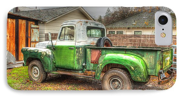 IPhone Case featuring the photograph The Old Green Truck by Jim Thompson
