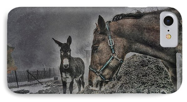 IPhone Case featuring the photograph The Old Grey Mare by Kimberleigh Ladd