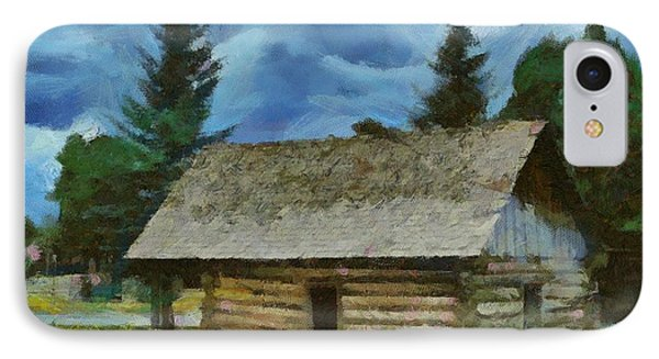 IPhone Case featuring the digital art The Old Homestead by Carrie OBrien Sibley