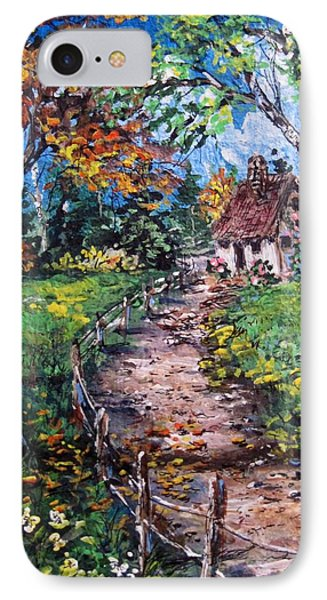 IPhone Case featuring the painting The Old Homestead by Megan Walsh