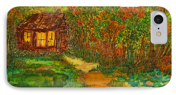 IPhone Case featuring the painting The Old Homestead by Susan D Moody