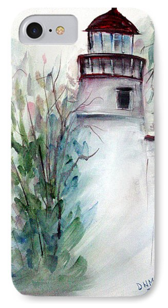 IPhone Case featuring the painting The Old Lighthouse by Dorothy Maier