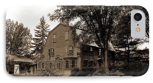 The Old Manse, Concord, Massachusetts, Hawthorne IPhone Case by Litz Collection