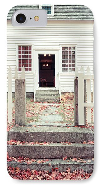 The Old Meeting House Canterbury Shaker Village IPhone Case