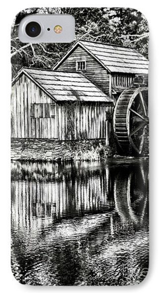 The Old Mill Black And White IPhone Case by Darren Fisher