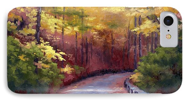 The Old Roadway In Autumn II Phone Case by Janet King