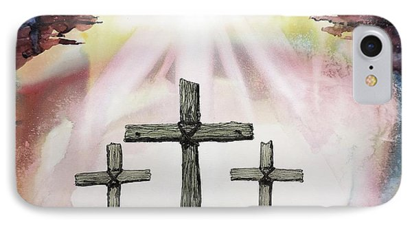 IPhone Case featuring the painting The Old Rugged Cross by Tom Riggs