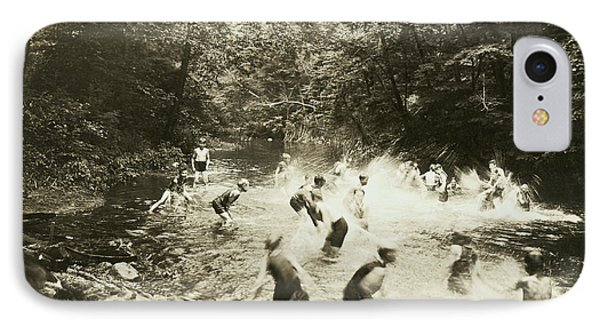 The Old Swimming Hole IPhone Case by Underwood Archives