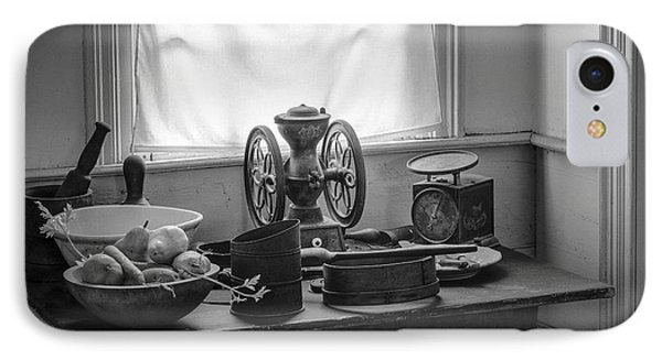The Old Table By The Window - Wonderful Memories Of The Past - 19th Century Table And Window Phone Case by Gary Heller
