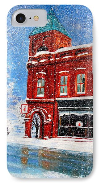 IPhone Case featuring the painting The Old Town Hall by Patricia L Davidson