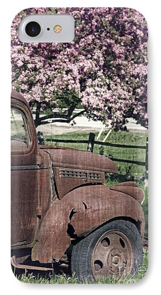 The Old Truck And The Crab Apple Phone Case by Edward Fielding