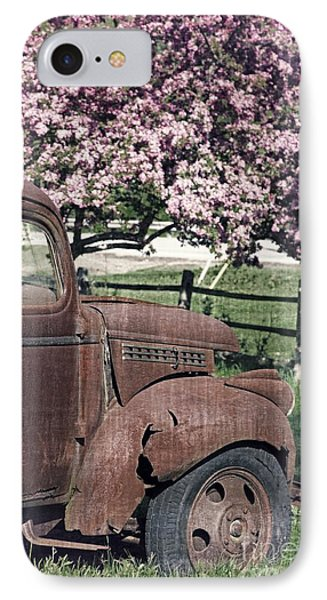 The Old Truck And The Crab Apple IPhone Case
