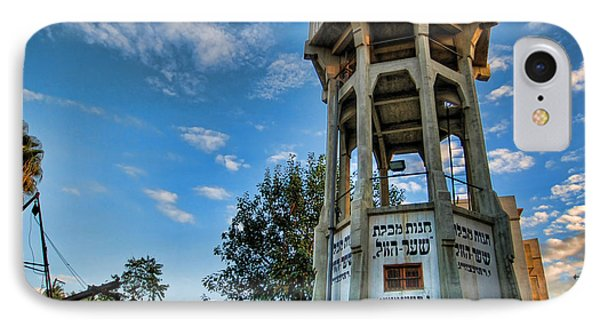 The Old Water Tower Of Tel Aviv IPhone Case by Ron Shoshani