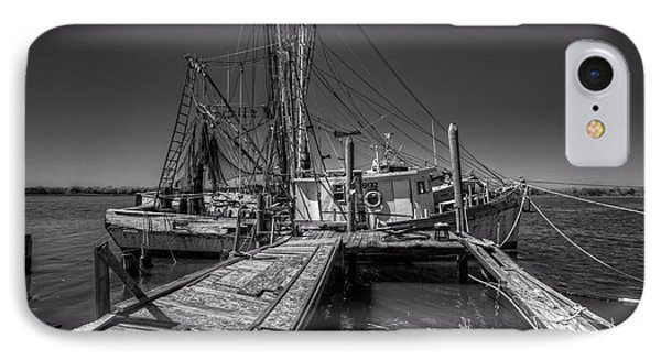 The Old Wharf In Brunswick Phone Case by Debra and Dave Vanderlaan