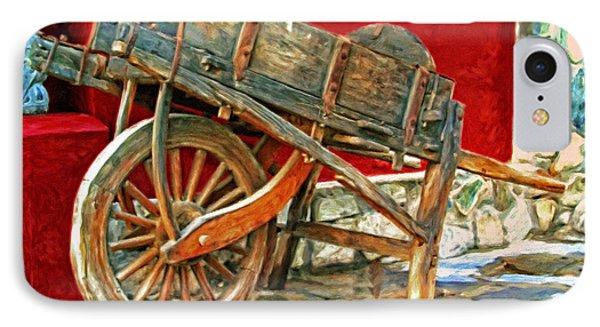 The Old Wheelbarrow Phone Case by Michael Pickett
