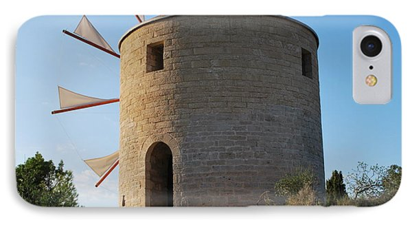 The Old Windmill 1830 IPhone Case by George Katechis