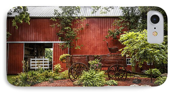 The Old Wood Cart IPhone Case by Debra and Dave Vanderlaan